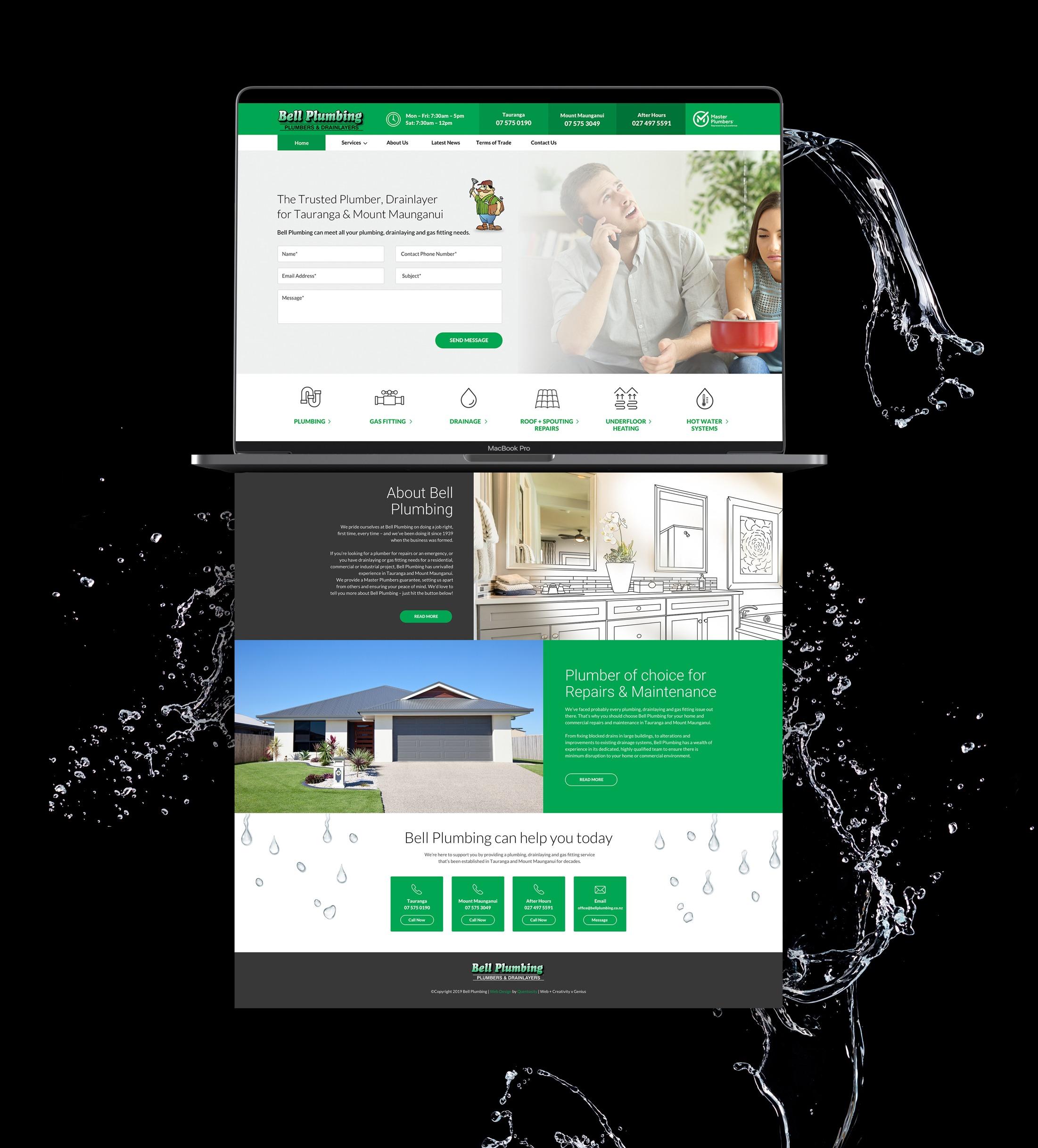 Website Deisgn - Bell Plumbing