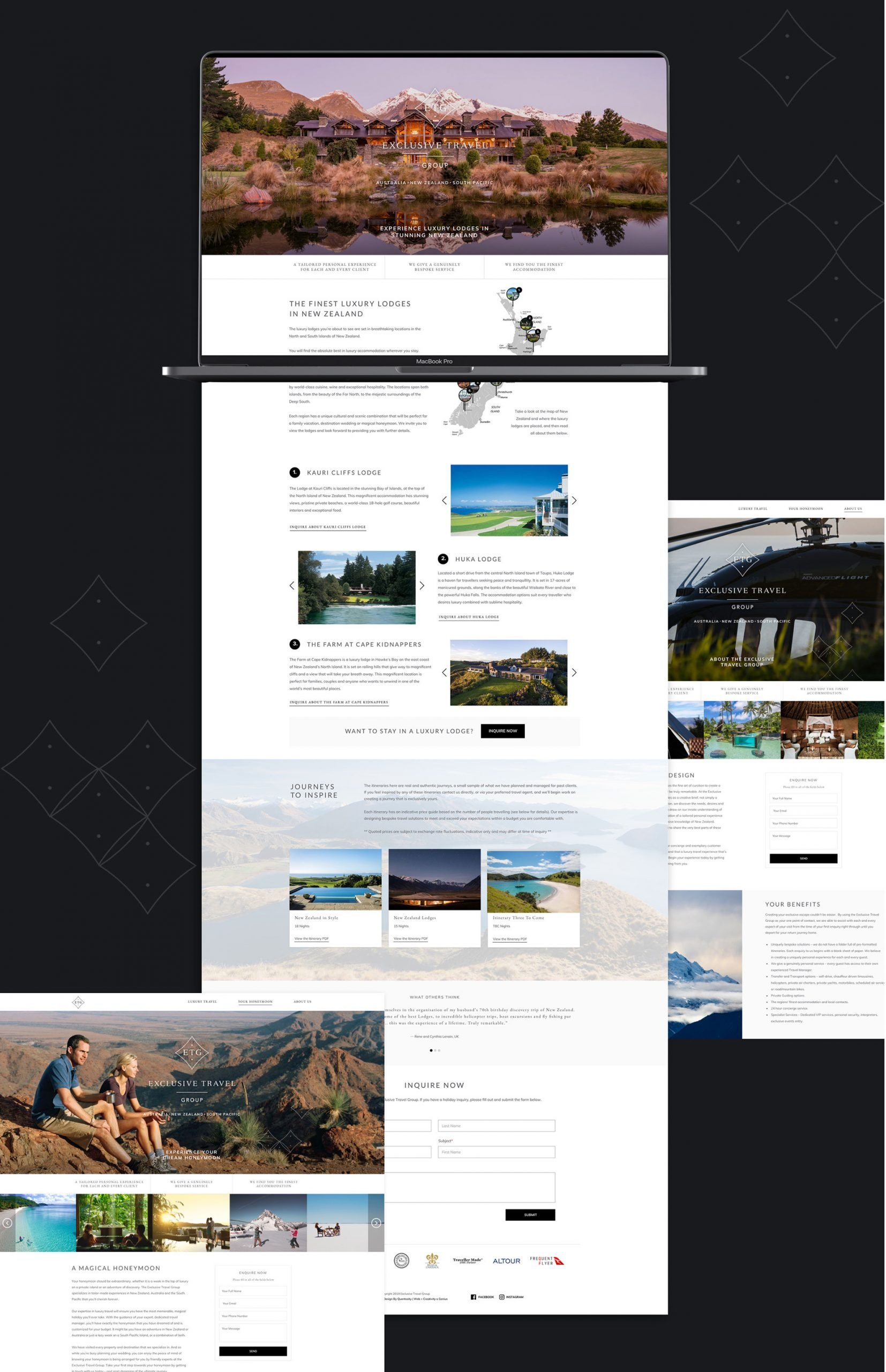 Landing Pages - Exclusive Travel Group