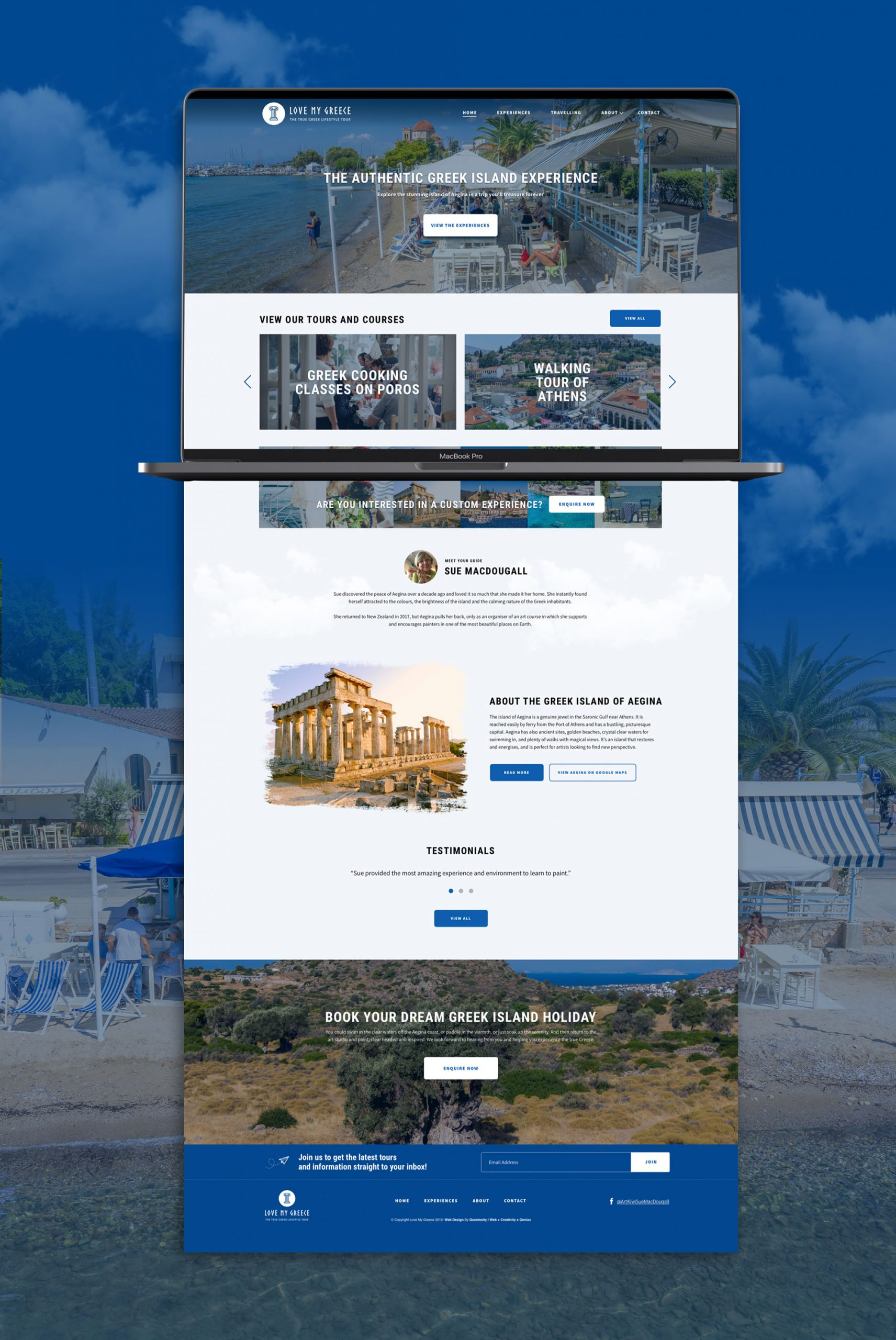 Website Design - Love My Greece