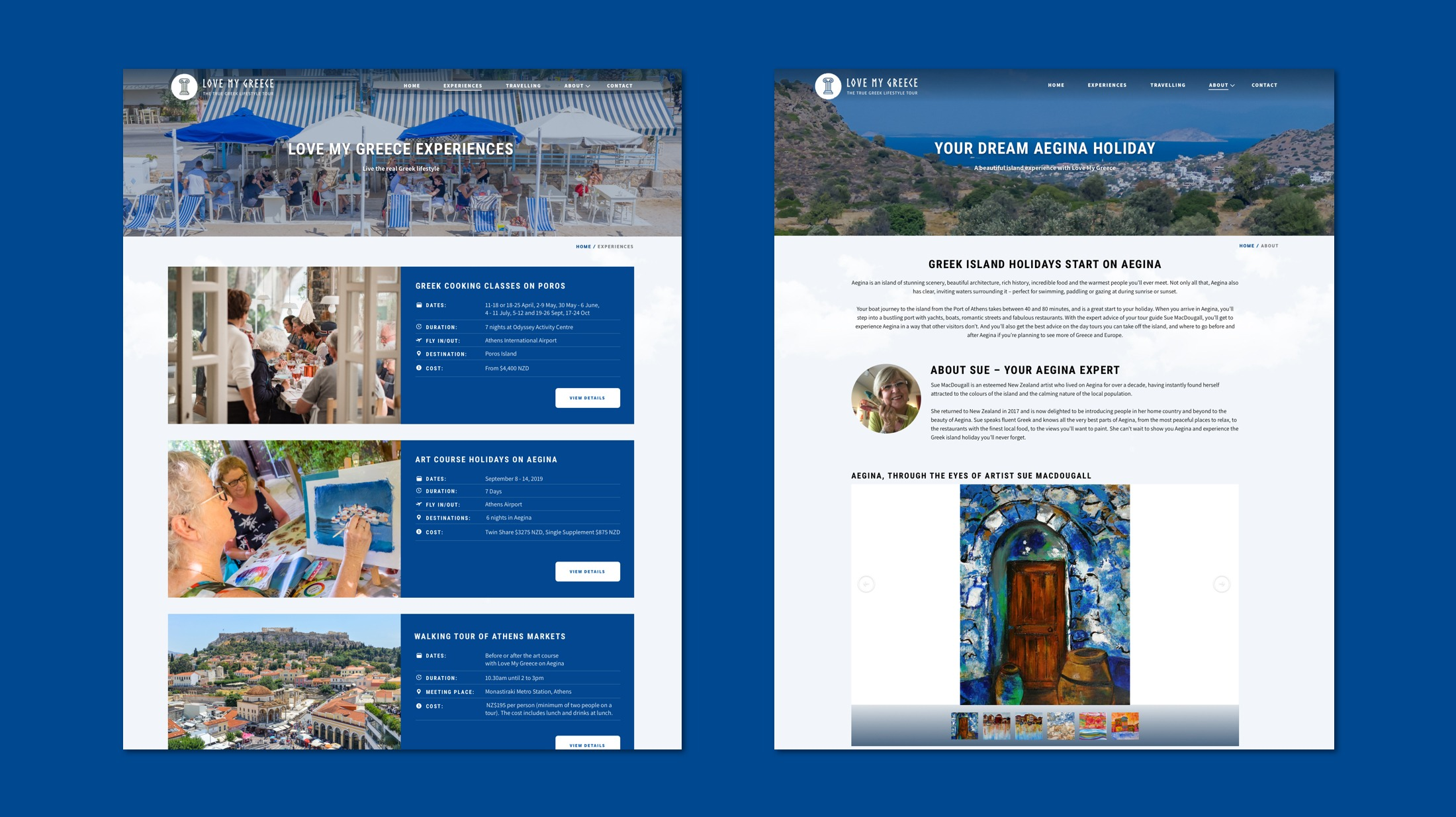 Website Development - Love My Greece