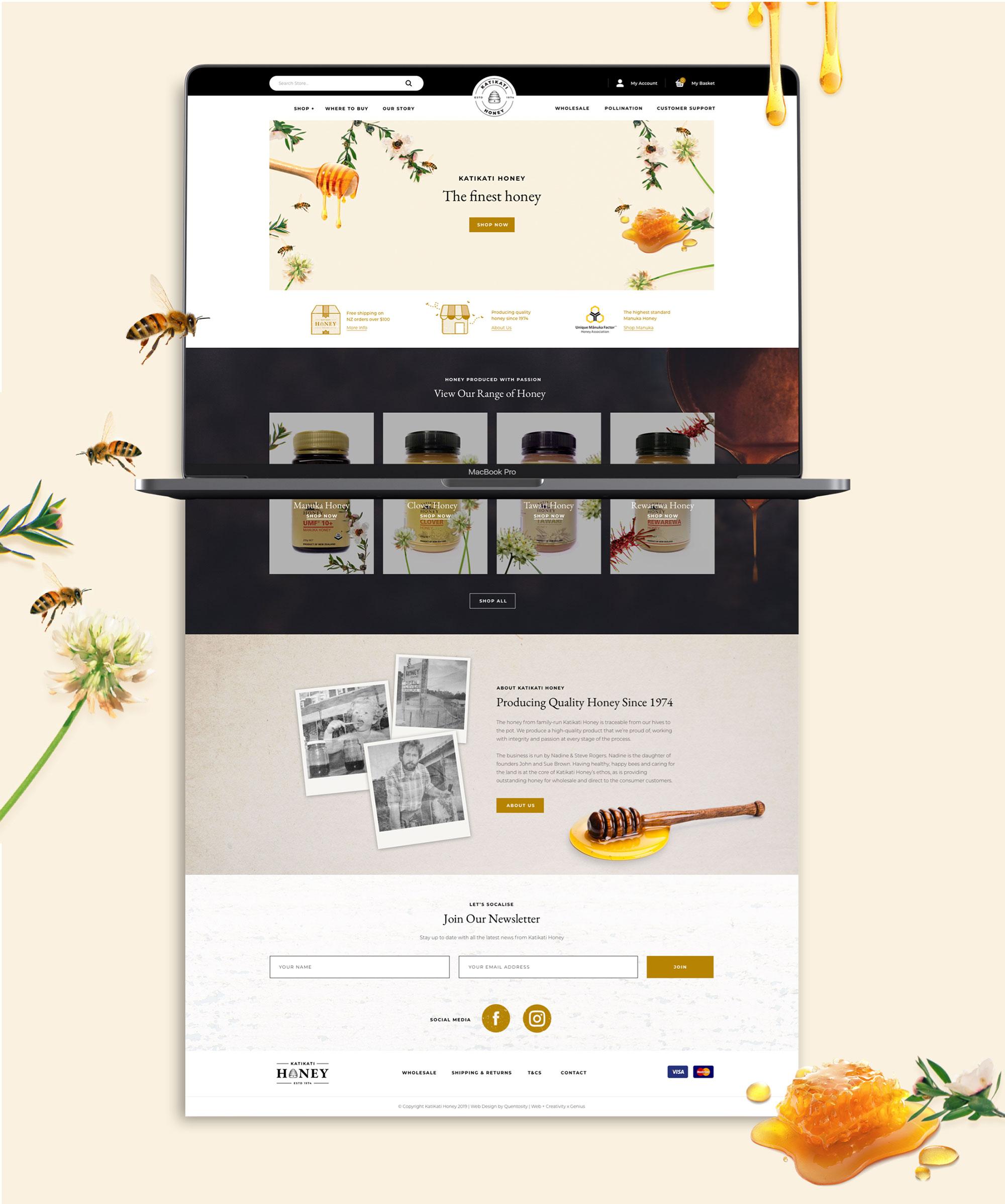 Website Development  - Katikati Honey