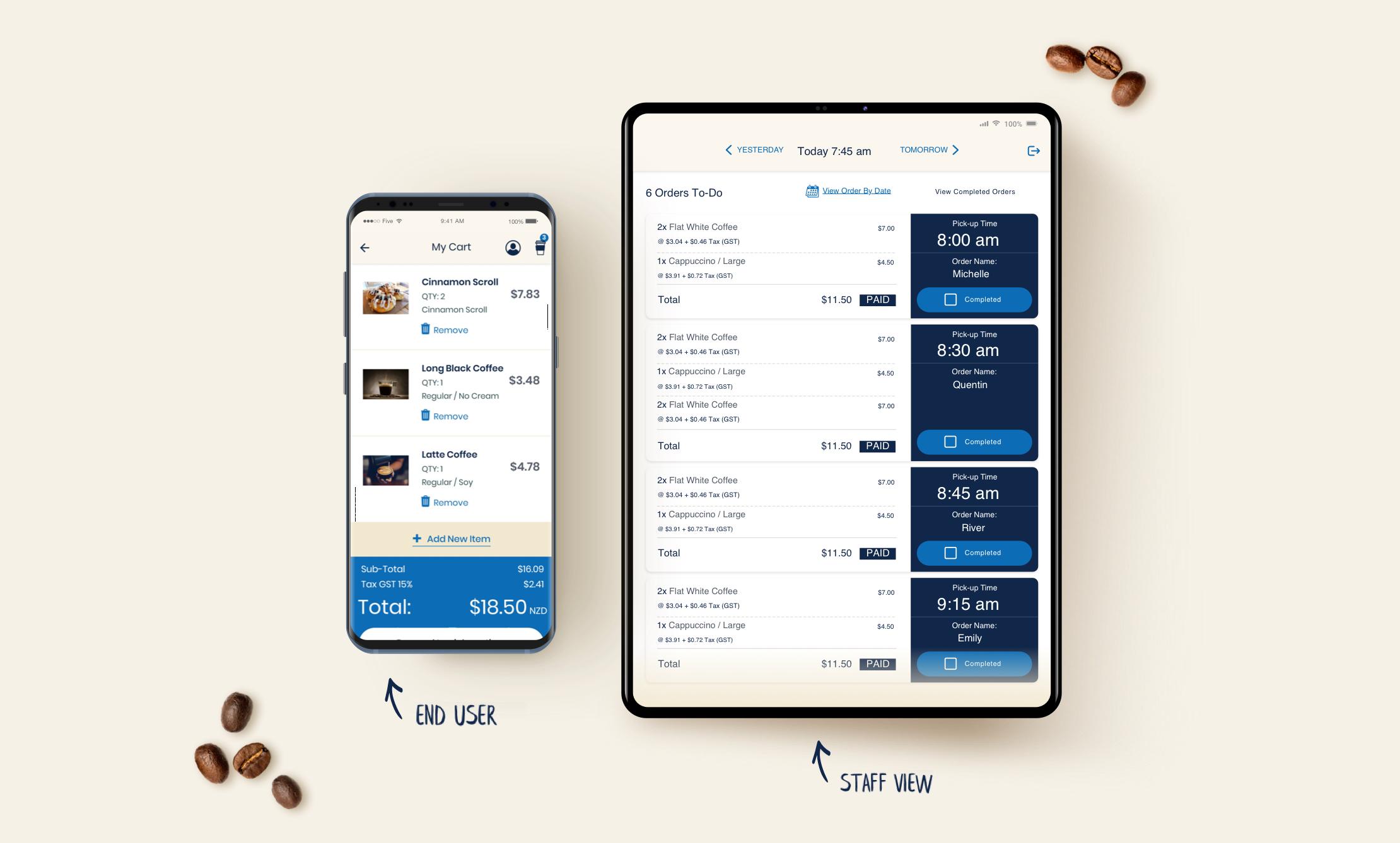 How our logo looks - QCafe App