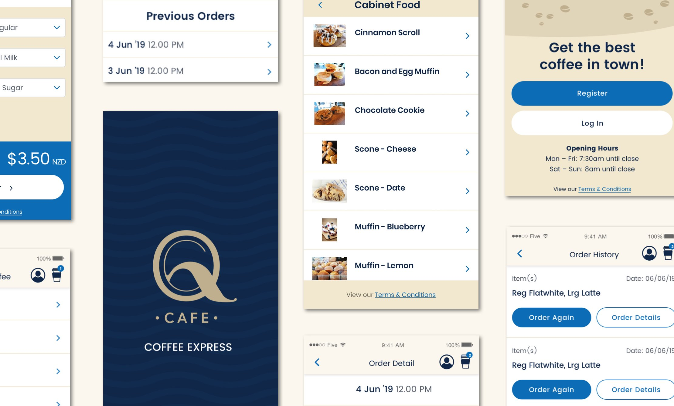 How our logo looks layout - QCafe App