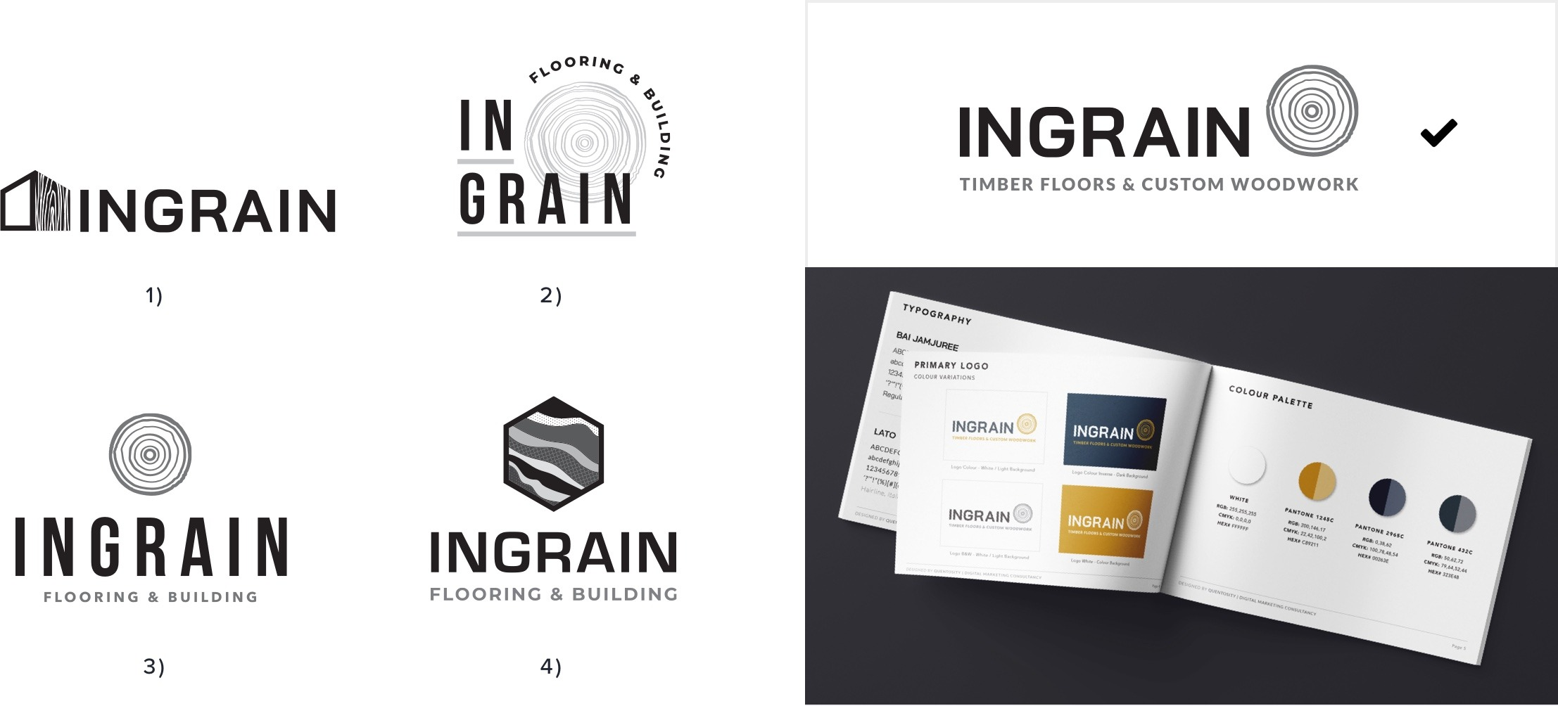 Initial Logo Concepts - Ingrain