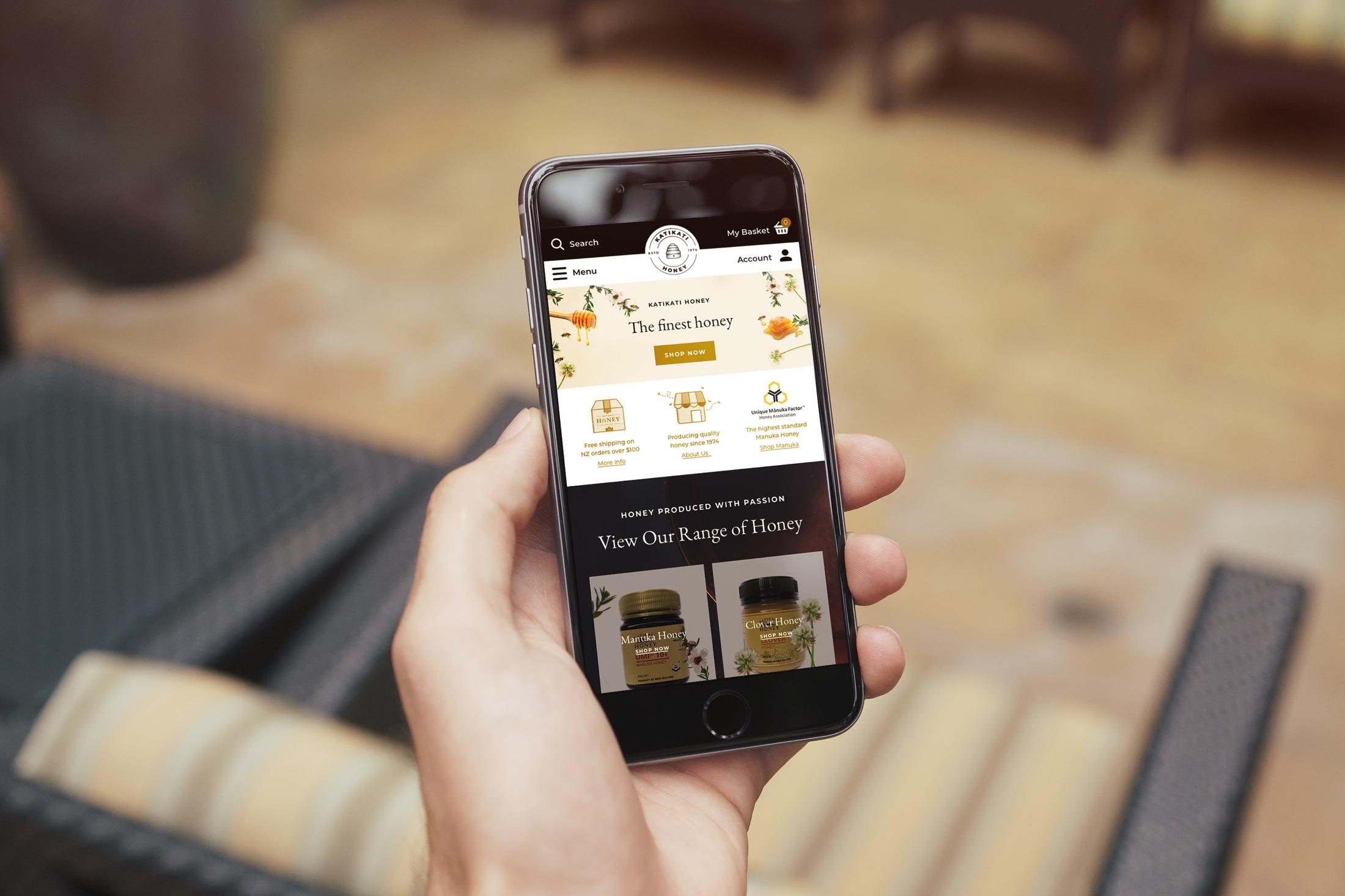 Website Design - Katikati Honey