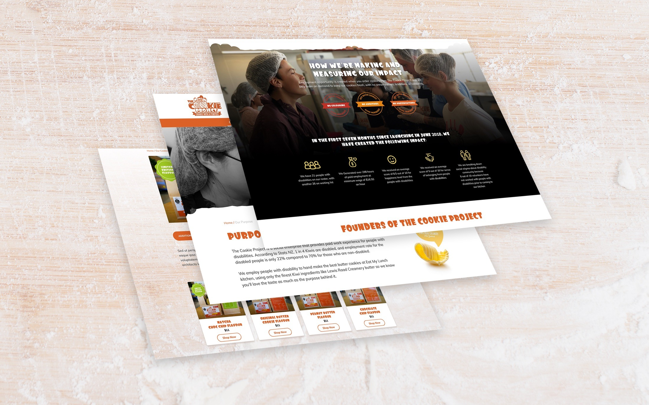 E-commerce website design - The Cookie Project