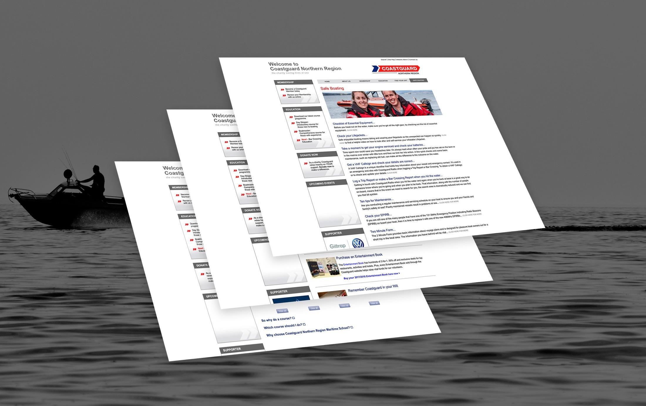 Website Design- Coastguard