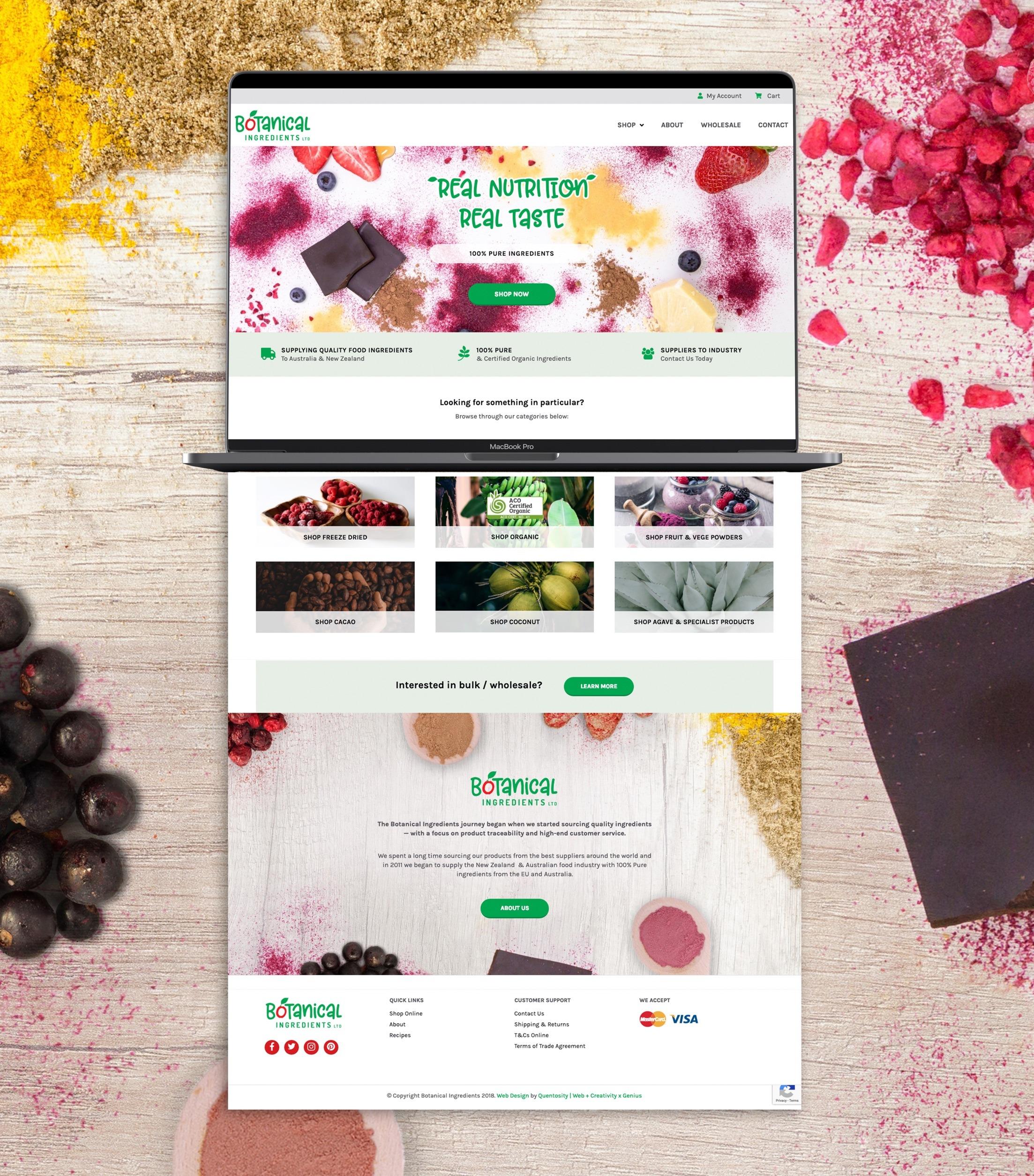 E-commerce Website - Botanical Ingredients