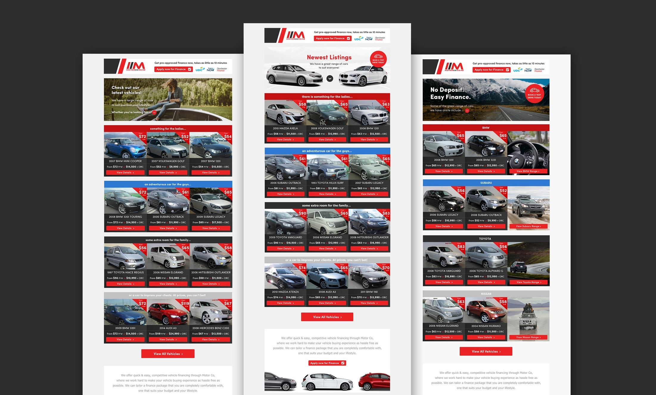 Email Marketing - MotorCo