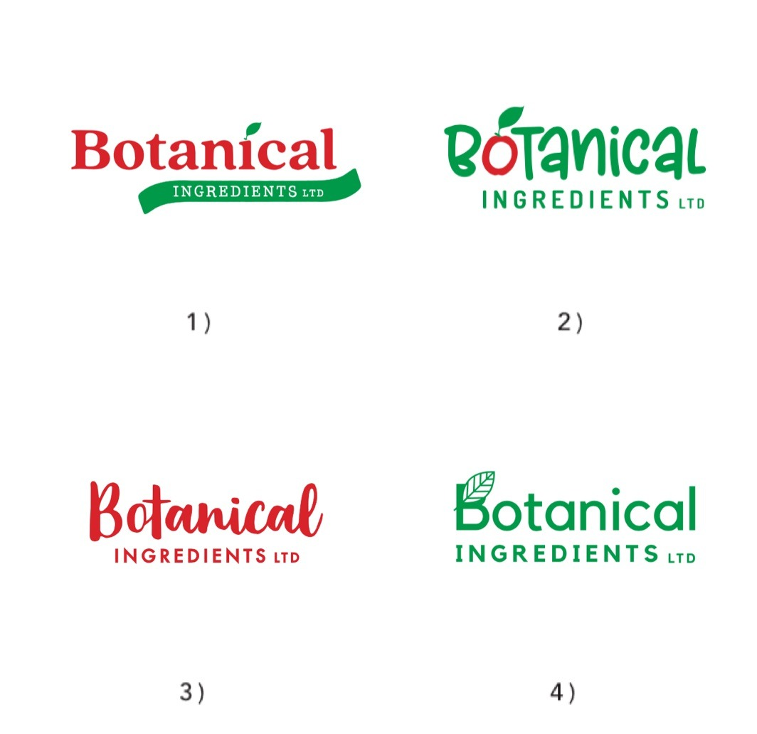 Initial Logo Concepts - Botanical Ingredients