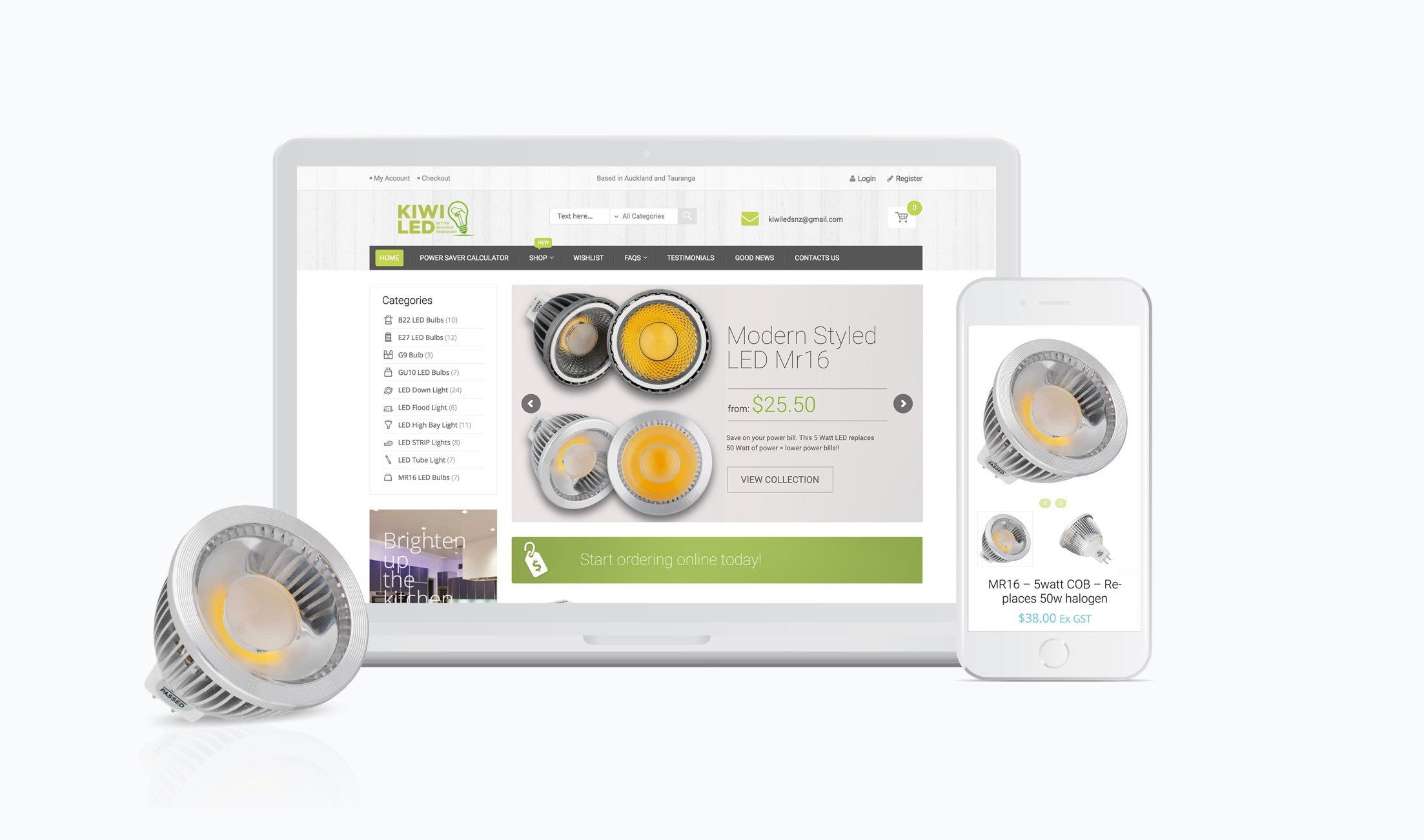 E-commerce Website - KiwiLed