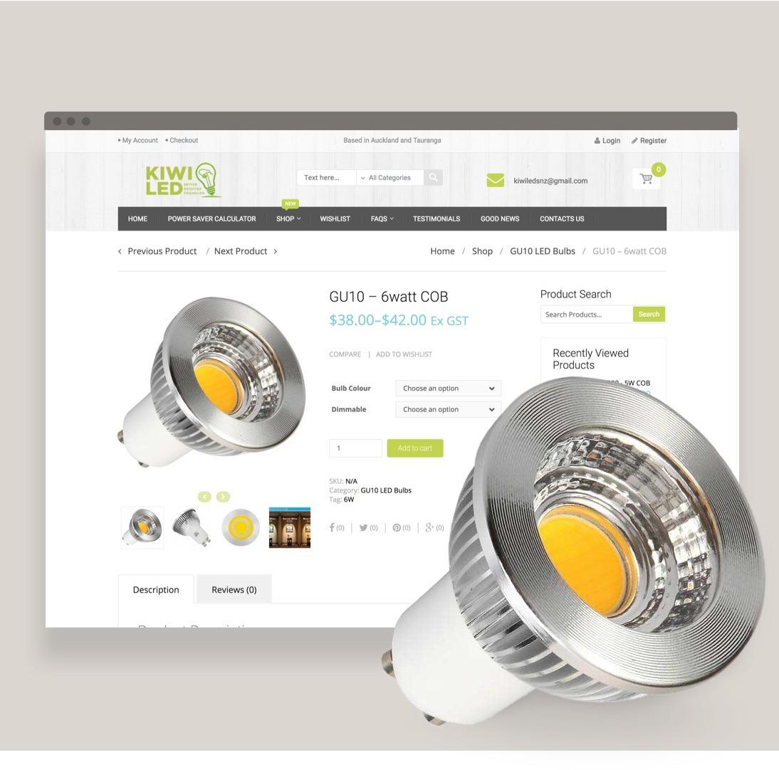 Website Design - KiwiLed