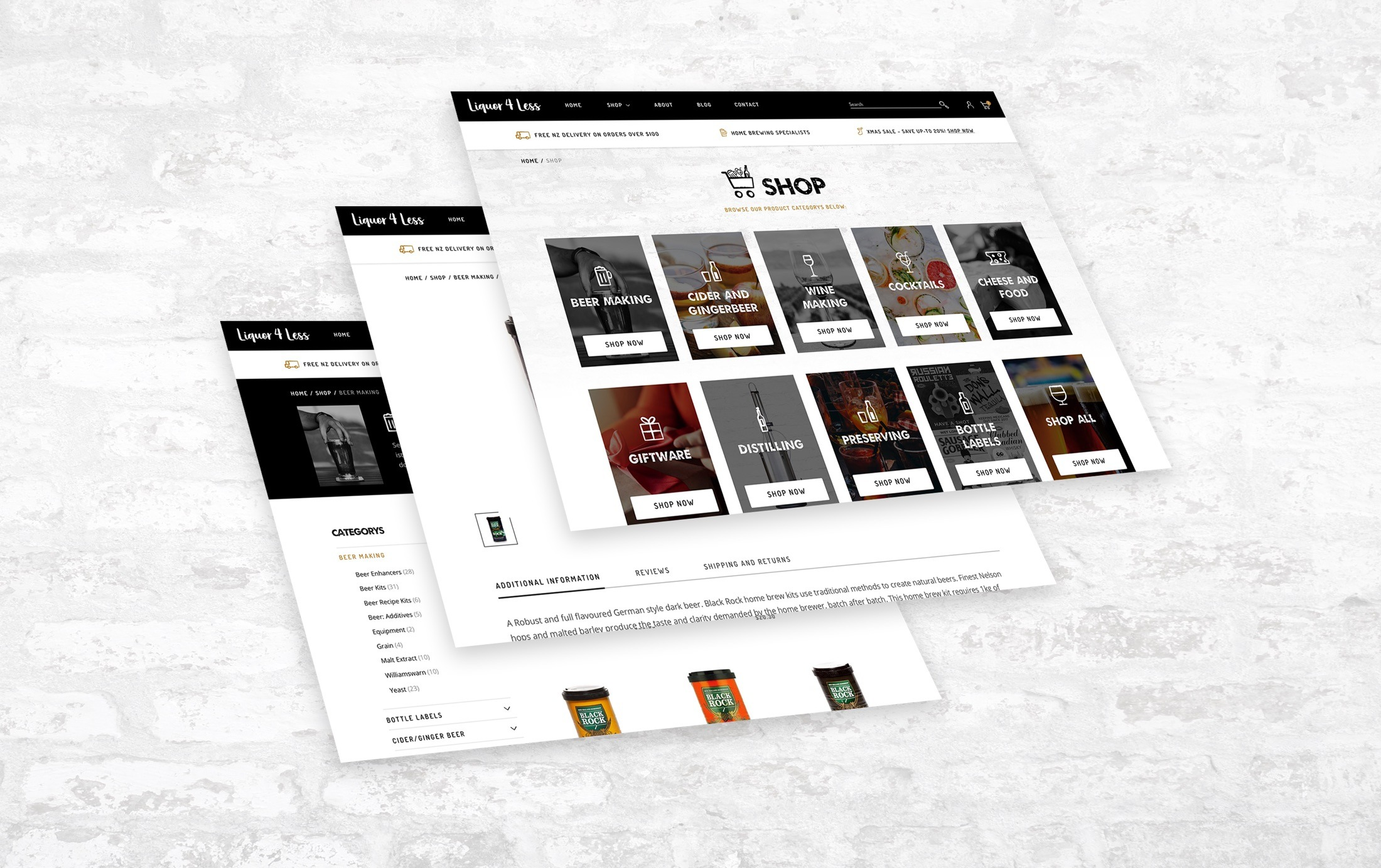 Website Development - Liquor 4 Less