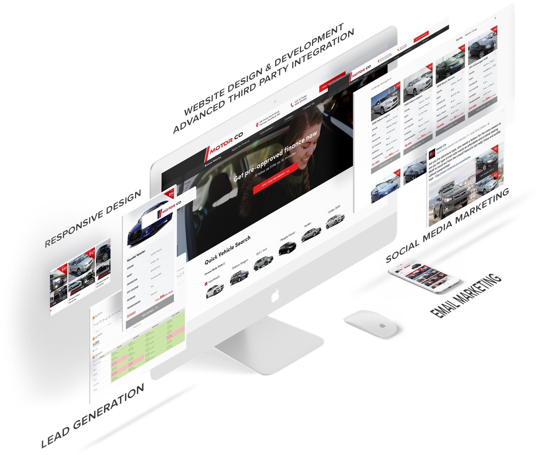 Website Development  - MotorCo