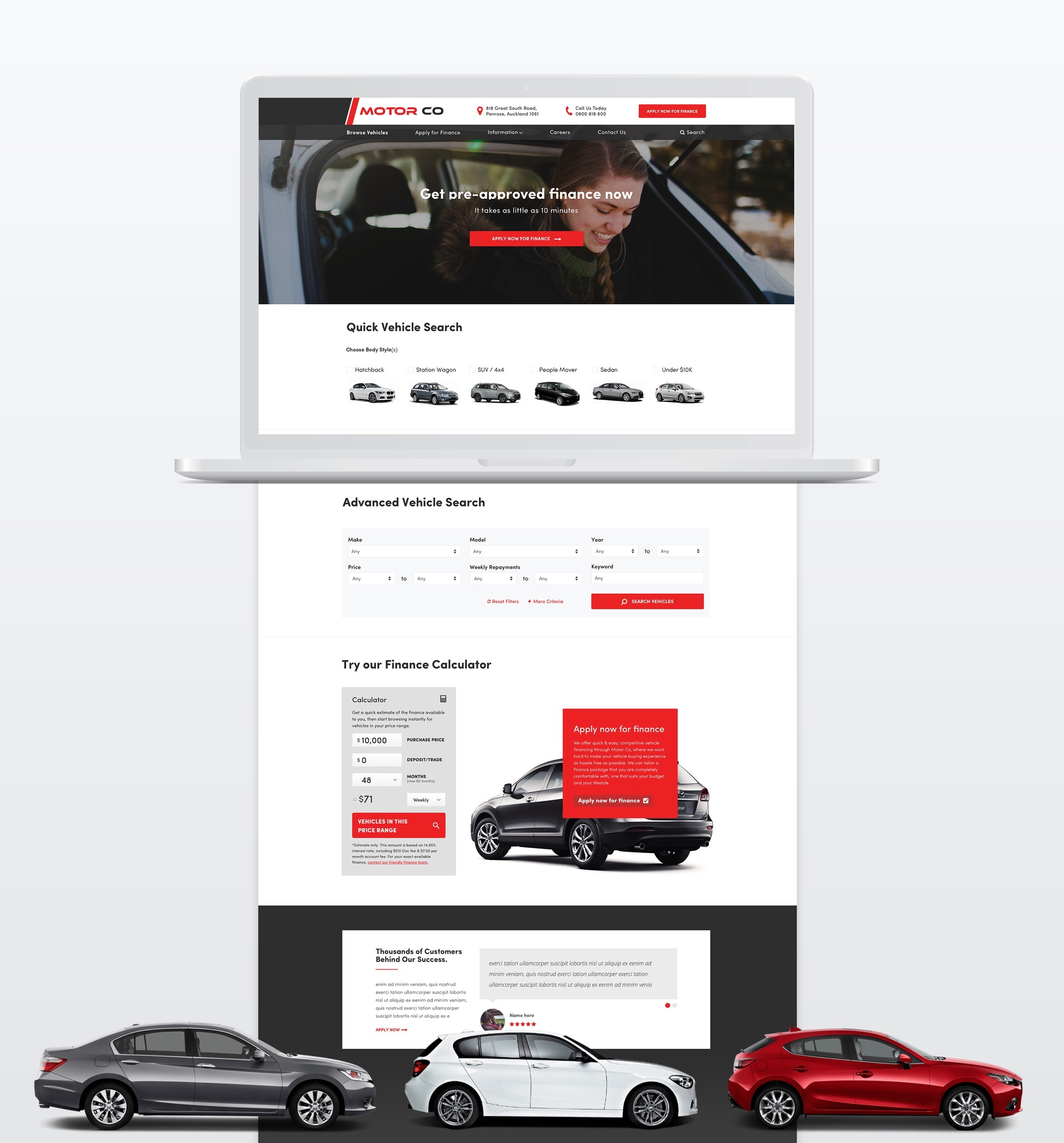 Website Design - MotorCo