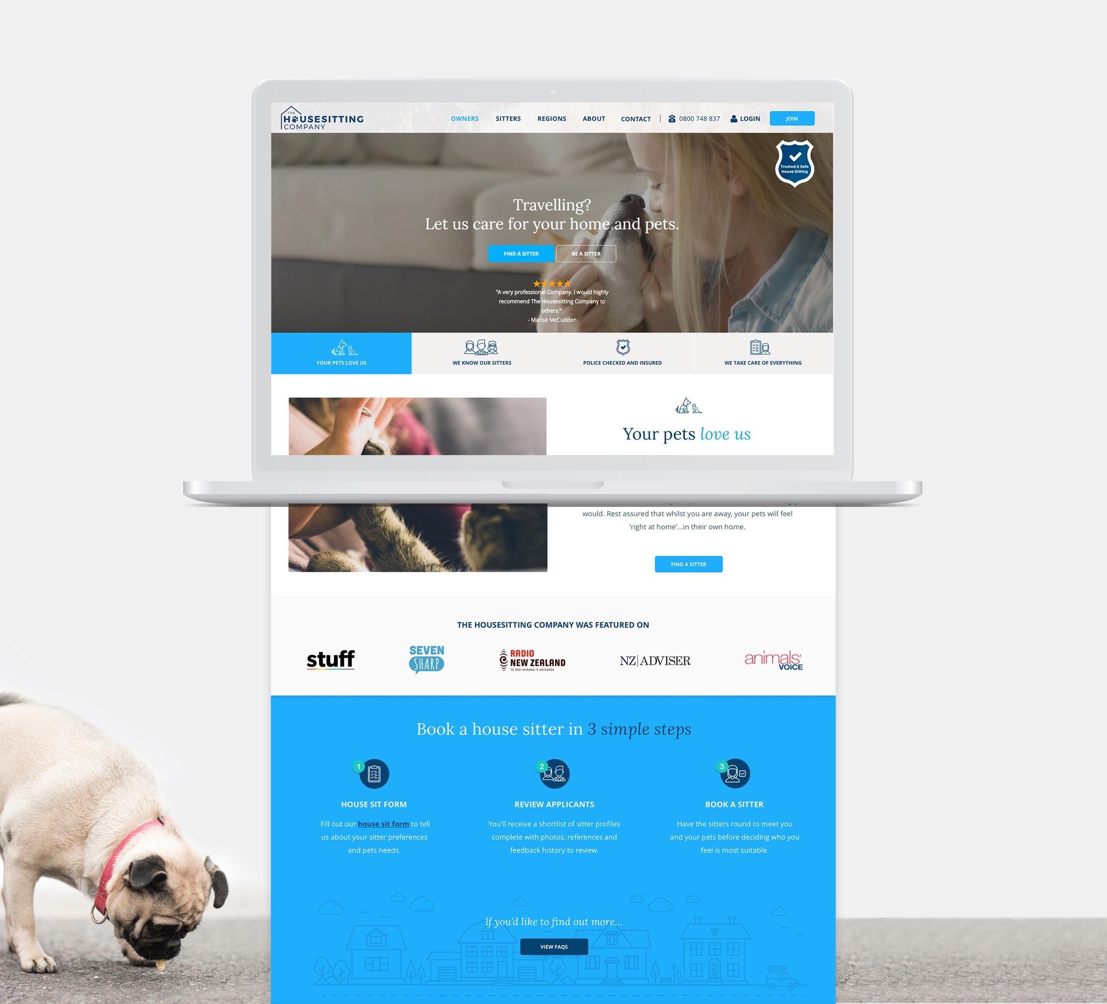 Website Design - Housesitting Company