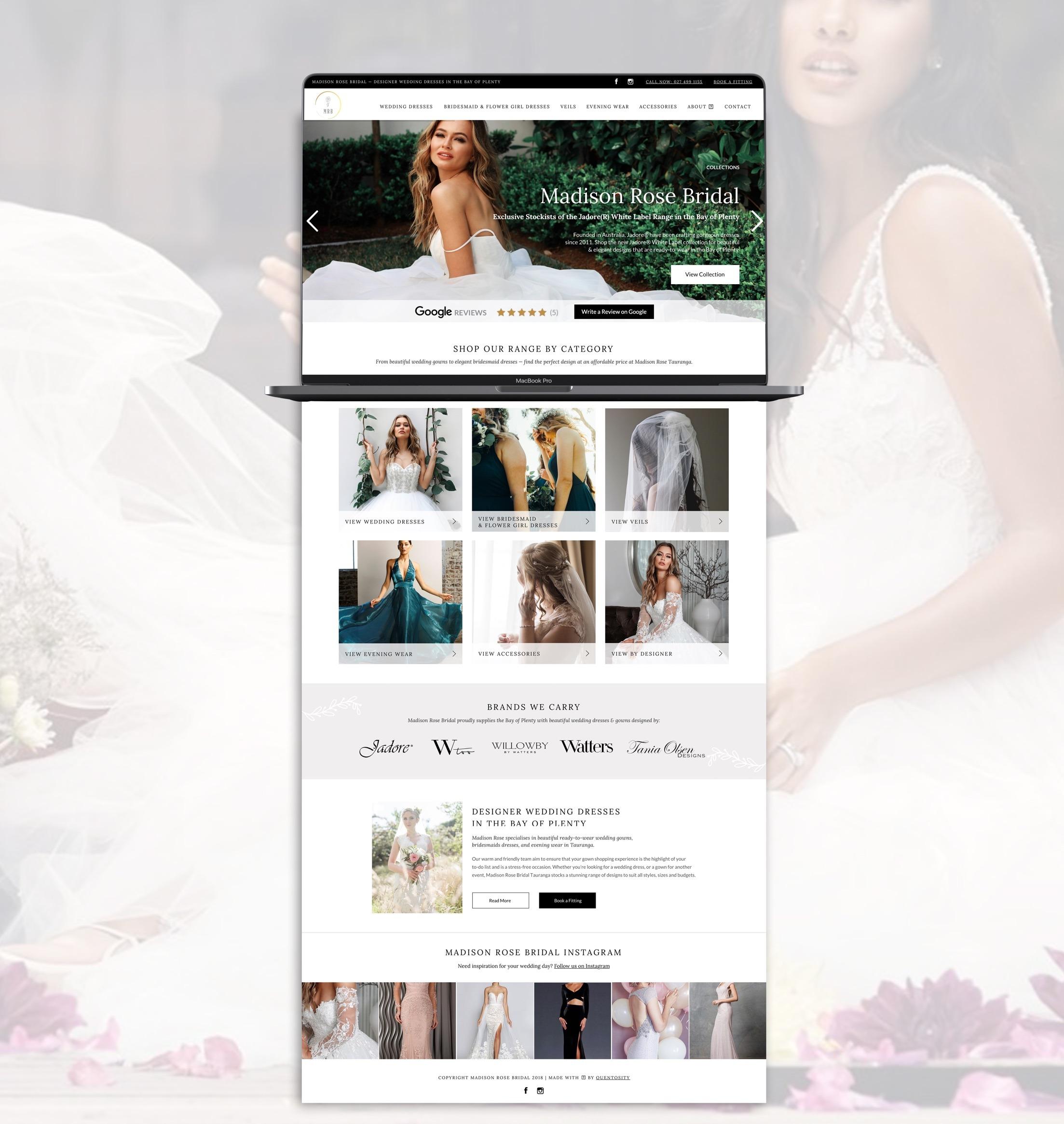 Catalogue Website - Madison Rose Bridal