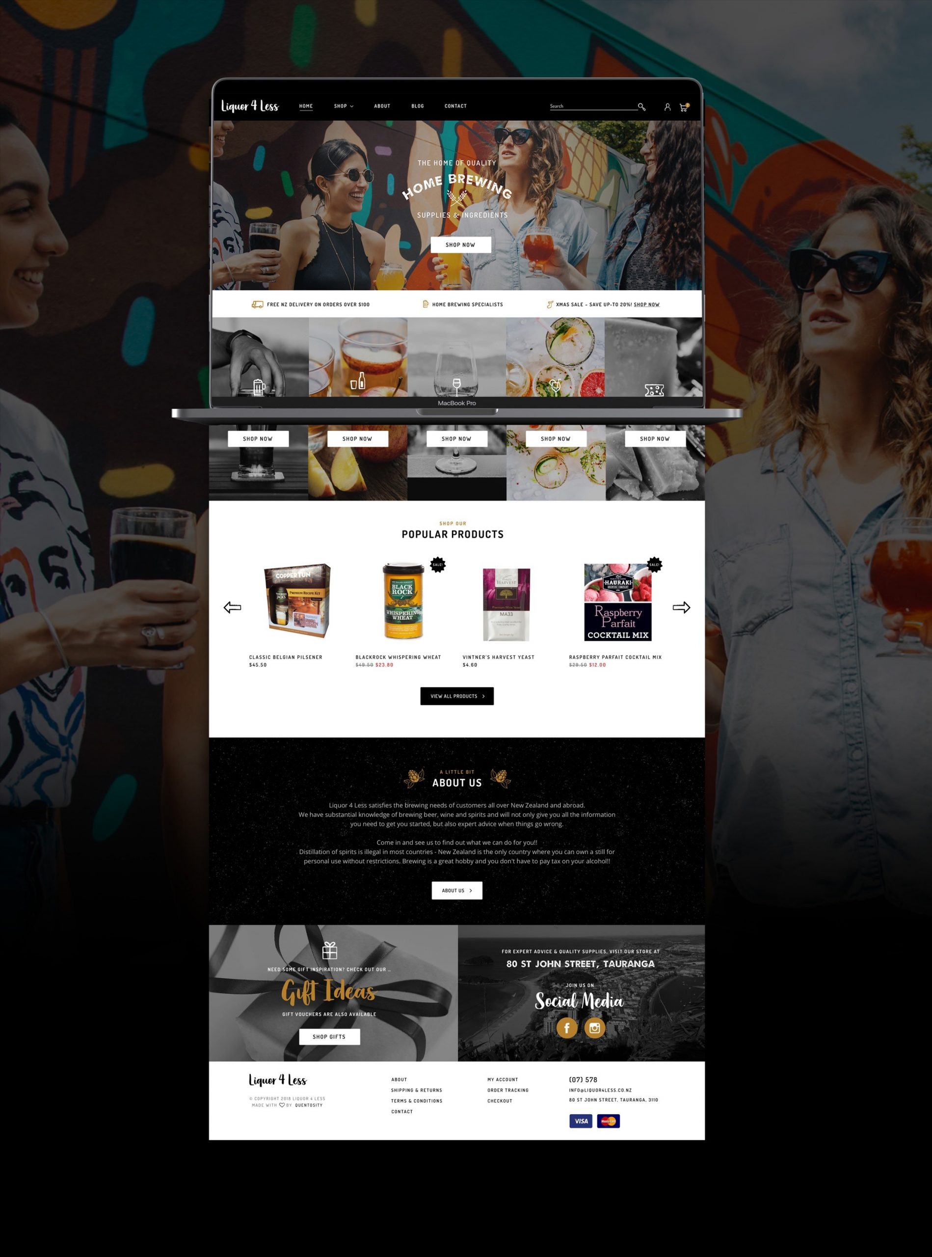 Website Re-design - Liquor 4 Less