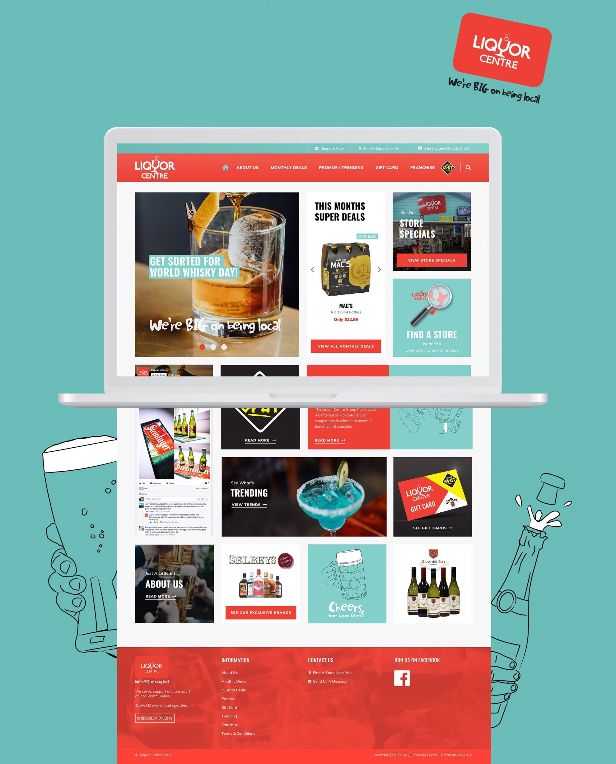 Website Re-design - The Liquor Centre