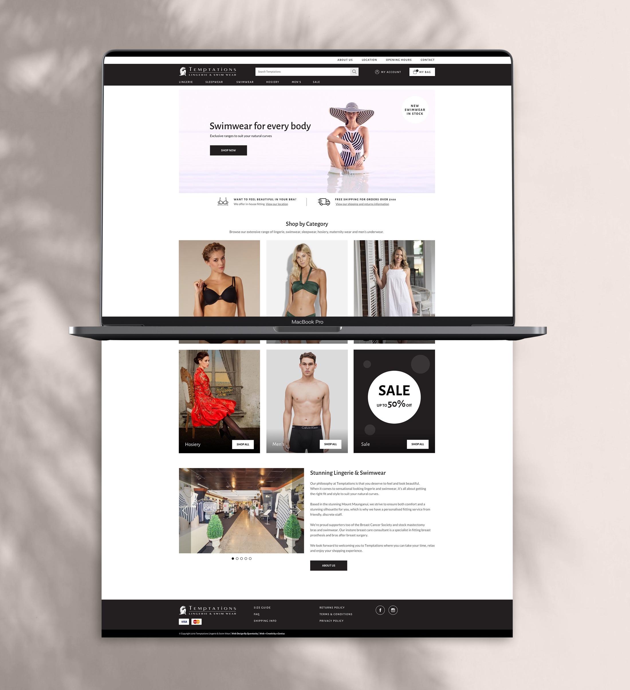 e-commerce - Temptations Lingerie