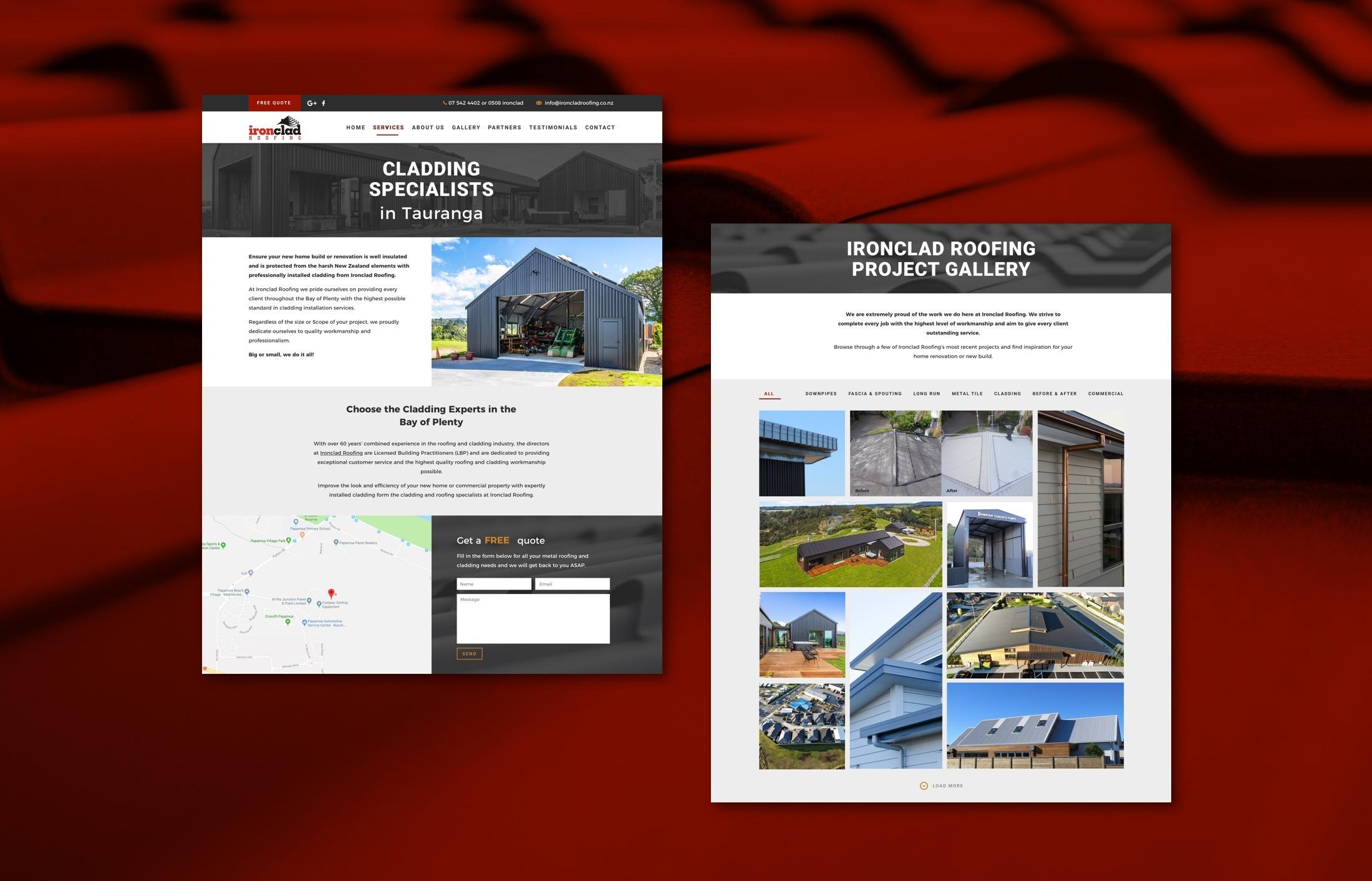 Website - Ironclad Roofing