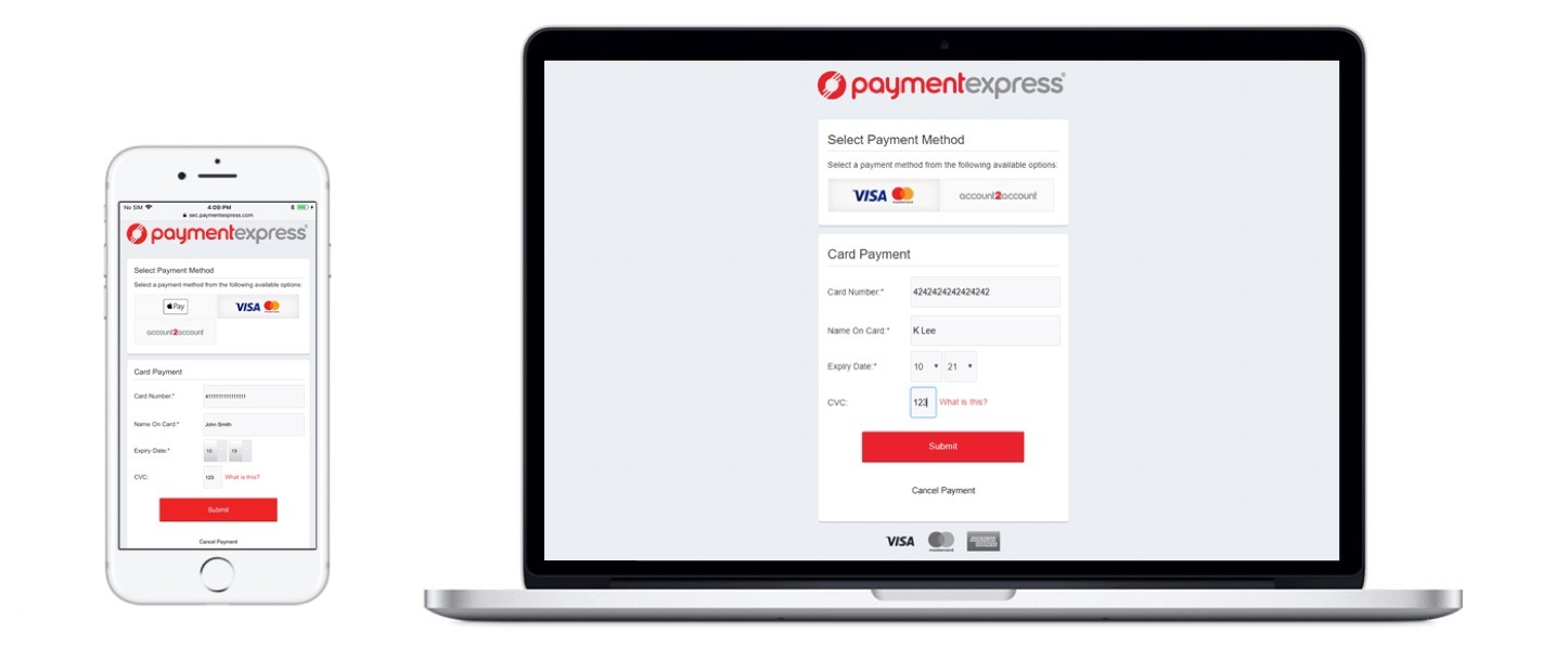 Ecommerce website payment express photo