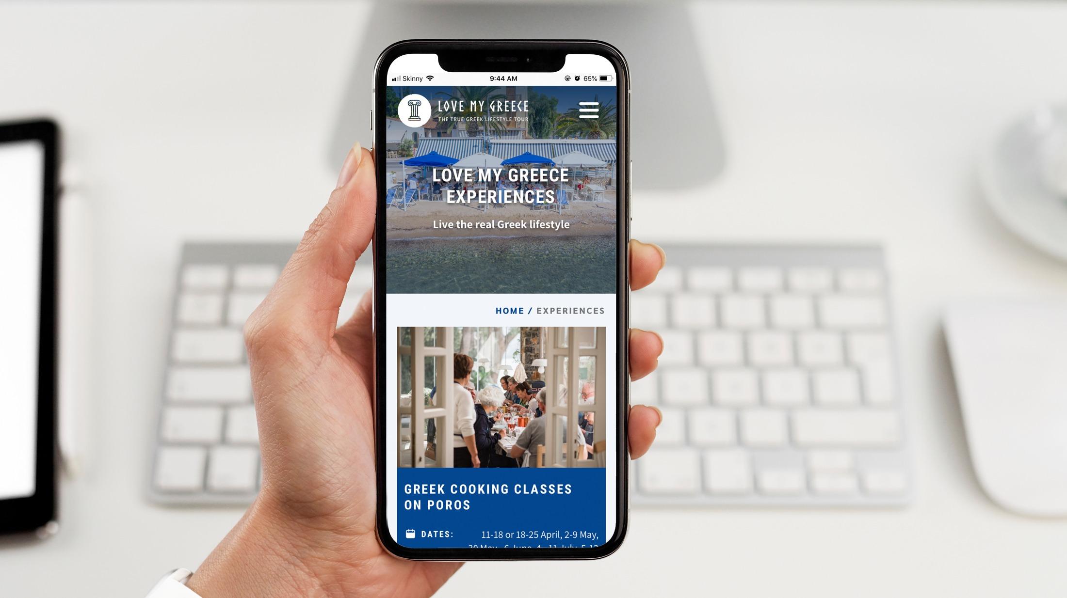 Website Development - Love My Greece