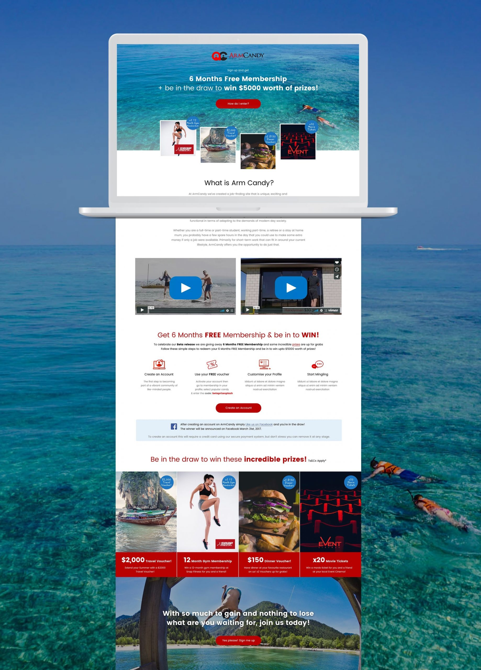 Landing page example photo