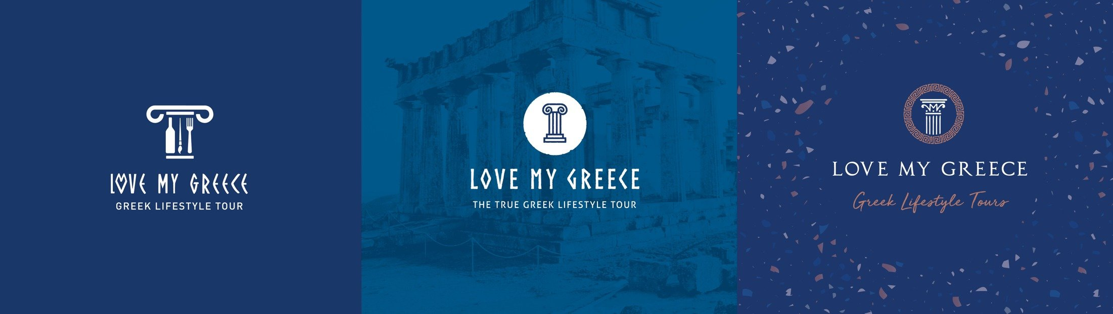 Initial Logo Concept - Love My Greece