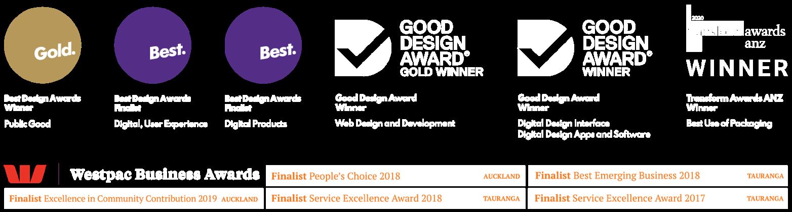 Quentosity Design Awards and Westpac Awards
