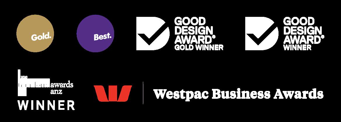 Quentosity Awards - Best Design, Good Design, Transform Awards, Westpac Business Awards